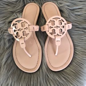 Tory Burch Miller Logo Patent Leather Seashell 7